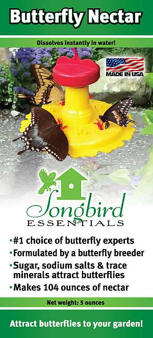 Songbird Butterfly Nectar - Each 5oz package makes 3.25 quarts of nectar!