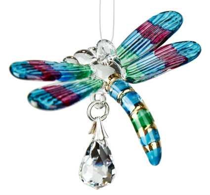 Fantasy Glass Suncatcher Hummingbird Spring Pastels