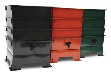 The Worm Factory is available in Black, Terra Cotta or Dark Green